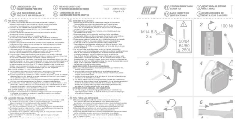 4 languages instructions